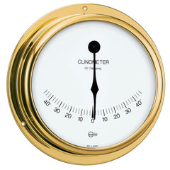 "BARIGO Viking Series Ship's Clinometer - Brass Housing - 5"" Dial"