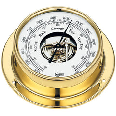 "BARIGO Tempo Series Ship's Barometer - Brass Housing - 3.3"" Dial"