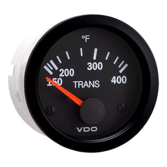 VDO Vision Black 400°F Transmission Temperature Gauge - Use with VDO  Sender - 12V