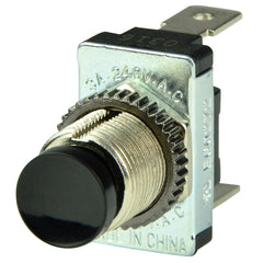 BEP Black SPST Momentary Contact Switch - OFF-(ON)