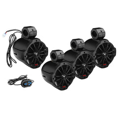 "Boss Audio B62ABT 6.5"" 2-Way Amplified Waketower Speakers w-Bluetooth Controller - Set of 4"