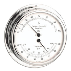 BARIGO Hygro--Thermometer - Chromed Brass