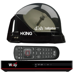 KING DISH® Tailgater® Pro Premium Satellite Portable TV Antenna w-DISH® Wally® HD Receiver