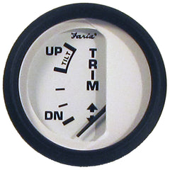 "Faria Euro White 2"" Trim Gauge (OMC Cobra)"