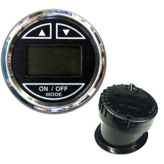 "Faria 2"" Depth Sounder w-In-Hull Transducer - Black - Stainless Steel Bezel"