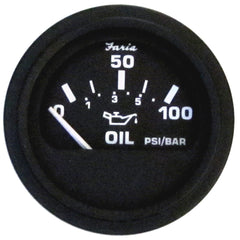"Faria Heavy-Duty 2"" Oil Pressure Gauge (80 PSI) - Black *Bulk Case of 24*"