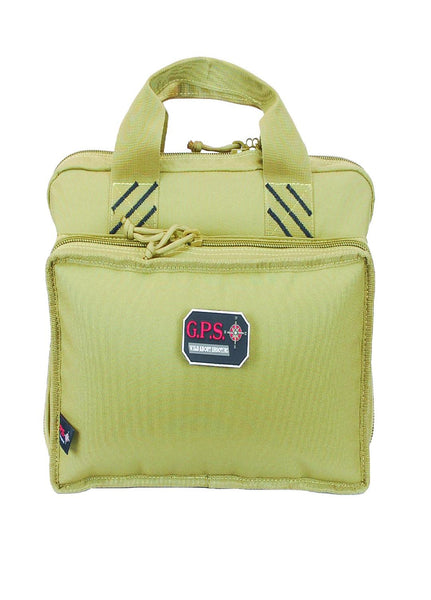 G.P.S. Quad Pistol Case in Tan