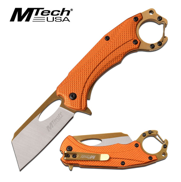 MTech Assisted 2.5 in Blade Orange Aluminum Handle
