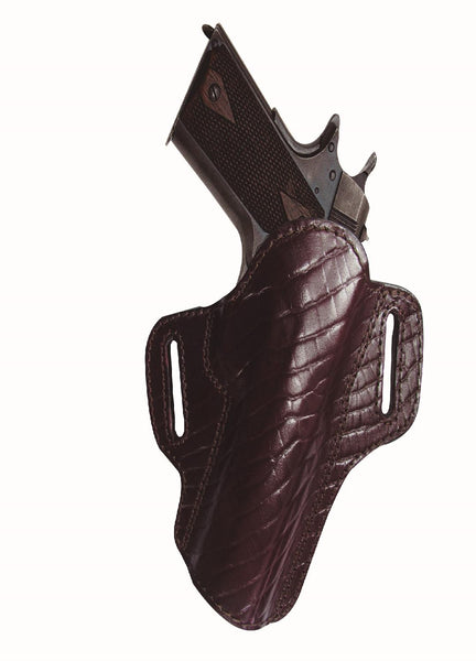 Tagua Premium Open Top Belt Holster Colt 1911 - 4in Burgundy