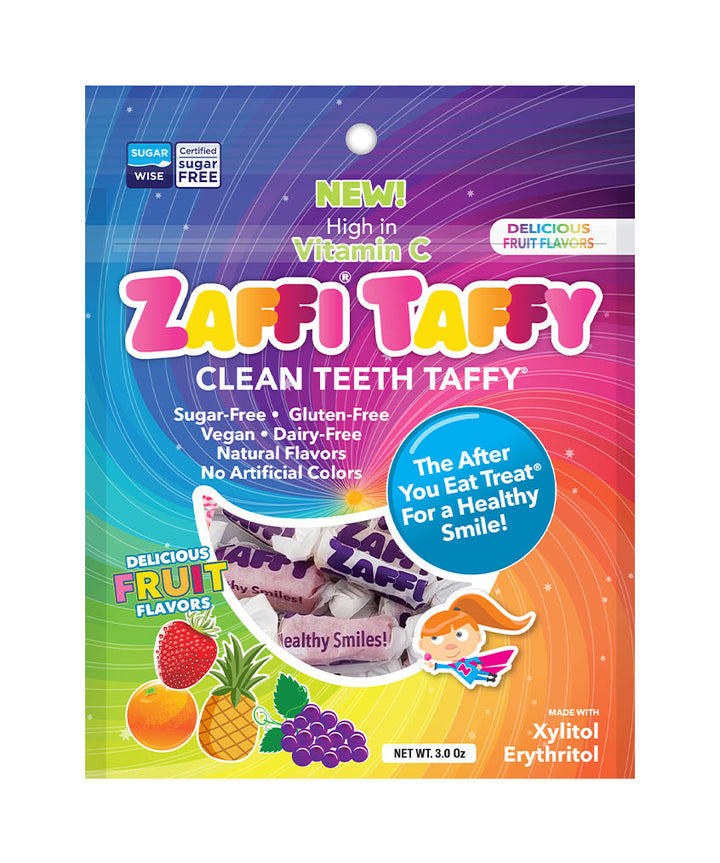 Zaffi Taffy Anti-Cavity Candy, Sugar Free Taffy