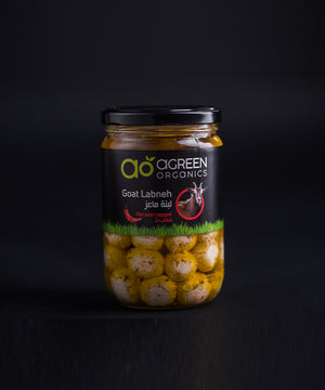Agreen Organic Goat Labneh Balls - Spicy 540g