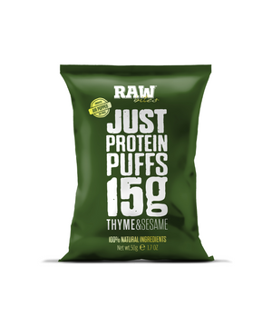 Raw Bites Protein Puffs - Thyme and Sesame