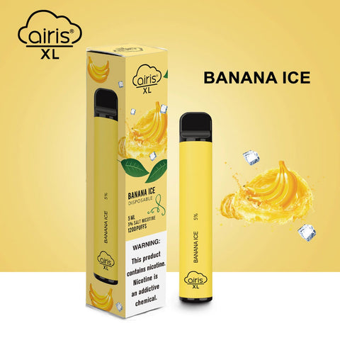 Airis XL Device Descartável Banana ice I 1200 puffs