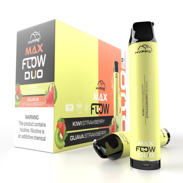 Hyppe Max FLOW DUO Device Descartável  (Kiwi Strawberry + Strawberry Guava) | 2500 puffs