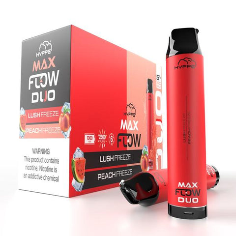 Hyppe Max FLOW DUO Device Descartável  (Lush Freeze + Peach Freeze) | 2500 puffs