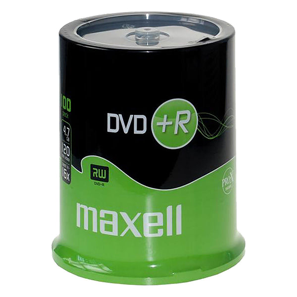 Maxell DVD+R 4.7GB Branded - 100 Cakebox - PMD Magnetics