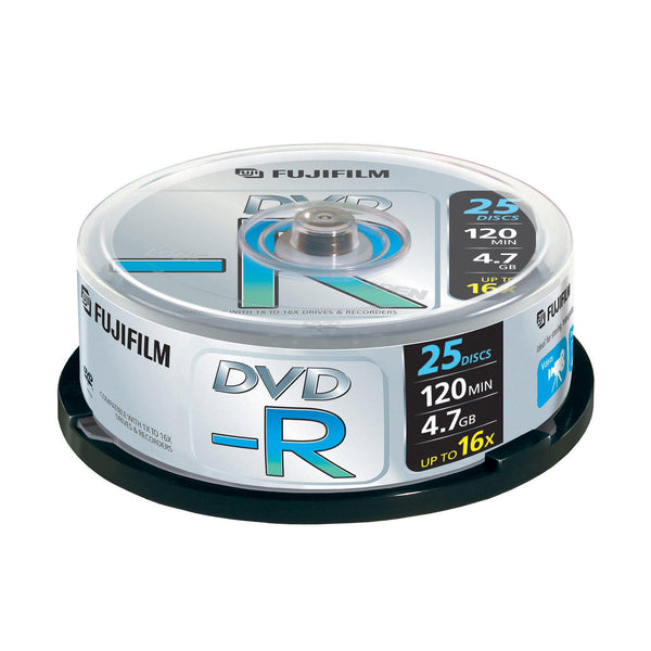 FUJIFILM DVD-R 4.7GB Branded - 25 Cakebox