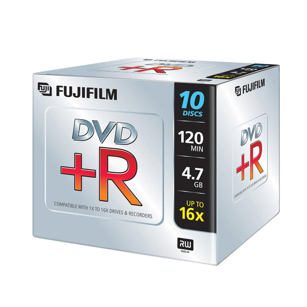 FUJIFILM DVD+R 4.7GB Branded - Standard Case (10 Pack)