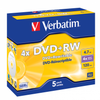Verbatim DVD+RW 4.7GB Branded - Standard Case (5 Pack)
