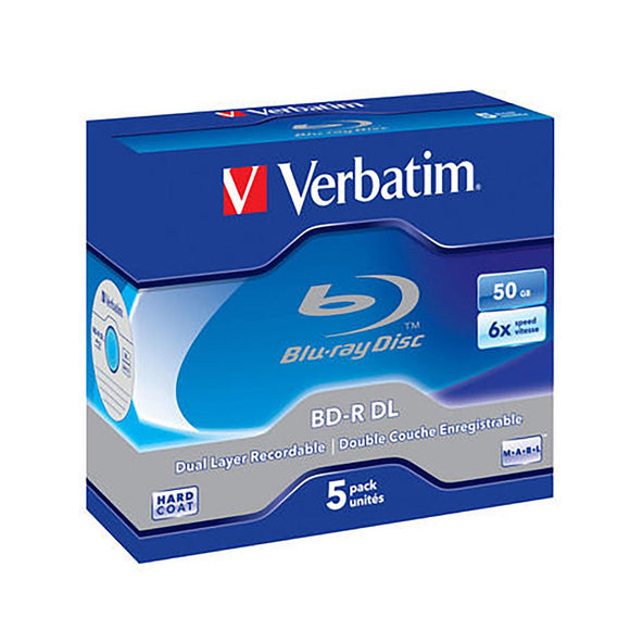 Verbatim BD-R DL 50GB Branded - Standard Case (5 Pack)
