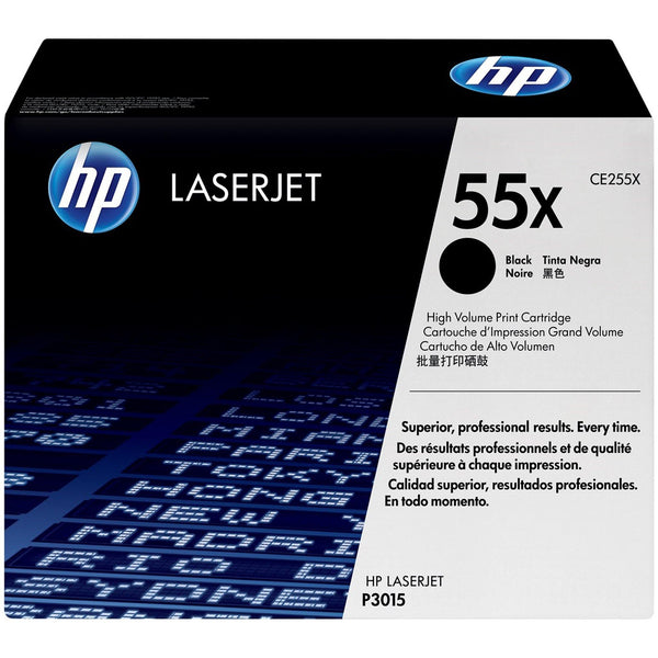 HP 55X High Yield Black Original LaserJet Toner Cartridge (CE255X)