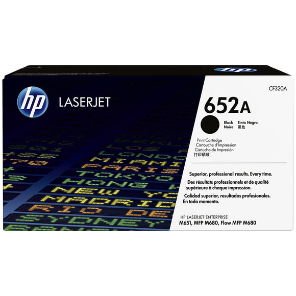 HP 652A Black Original LaserJet Toner Cartridge (CF320A)