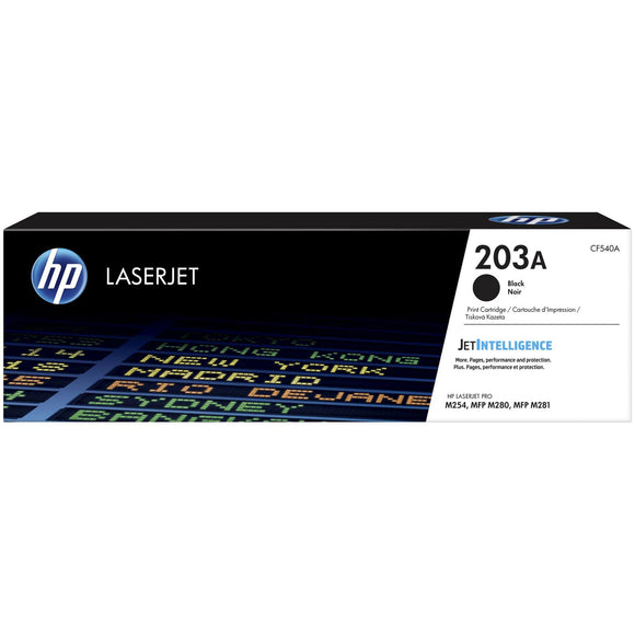 HP 203A Black Original LaserJet Toner Cartridge (CF540A)