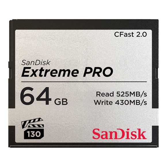 SanDisk Extreme PRO CFast 2.0 Memory Card 64GB