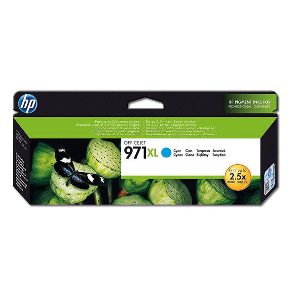 HP 971XL High Yield Cyan Original Ink Cartridge (CN626AE)