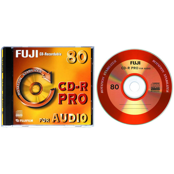 FUJIFILM CD-R 80 Audio Pro - Standard Case (10 Pack)