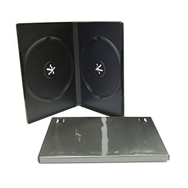 DVD Case Black Double - 100 Pack