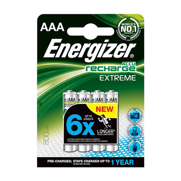 Energizer AAA Rechargeable - 4 Pack