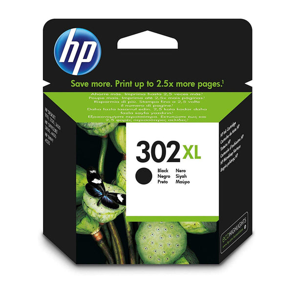 HP 302XL High Yield Black Original Ink Cartridge (F6U68AE)
