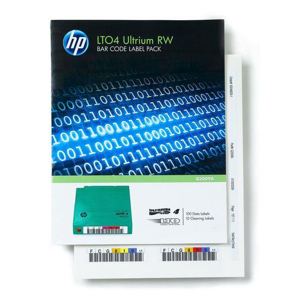 HPE LTO 4 Ultrium Label Pack