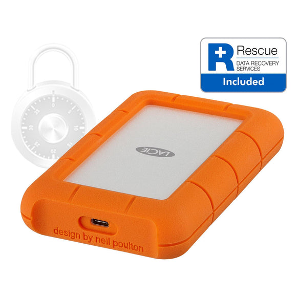 LaCie Rugged Secure HDD 2TB USB-C - STFR2000403