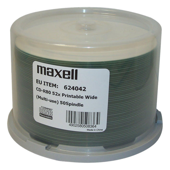 Maxell CD-R 80 Printable - 50 Cakebox