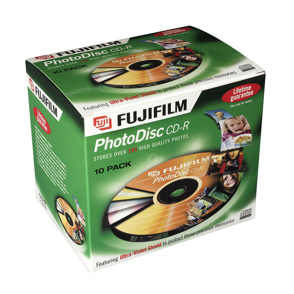 FUJIFILM CD-R 80 PhotoDisc - Standard Case (10 pack)