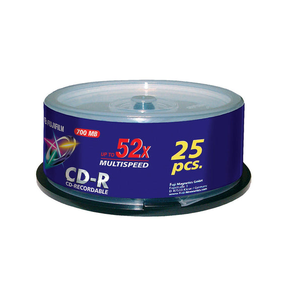 FUJIFILM CD-R 80 Branded - 25 Cakebox