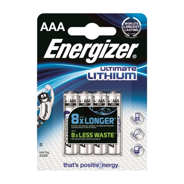 Energizer AAA Lithium - 4 Pack