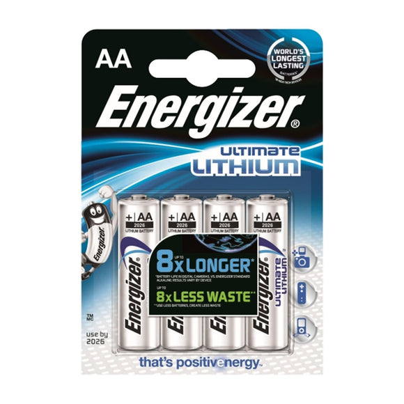 Energizer AA Lithium - 4 Pack