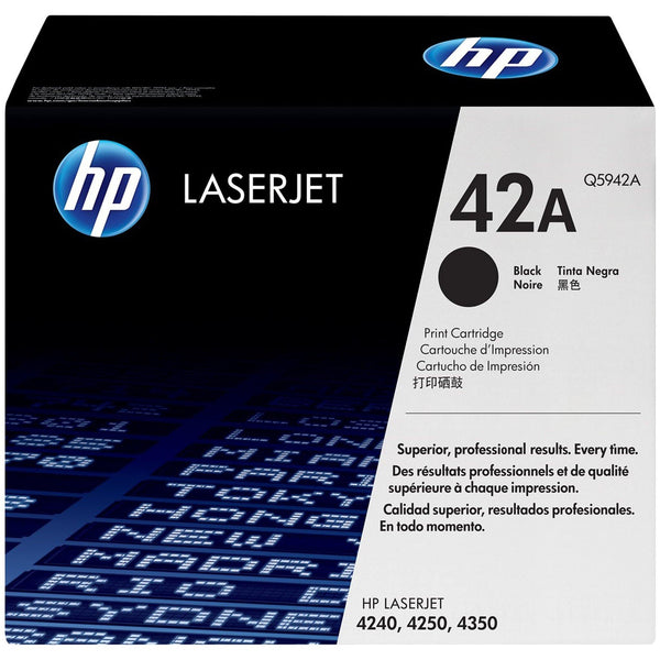 HP 42A Black Original LaserJet Toner Cartridge (Q5942A)