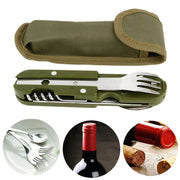 Folding Tableware Spoon/Fork Multi Hiking Camping - Shopnr