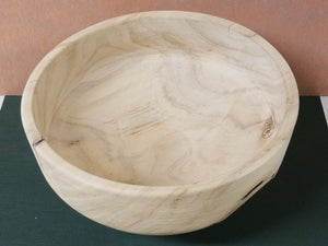 BH07 - Solid hickory bowl with live edge bottom