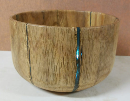 BO01 - solid oak bowl with starburst accent