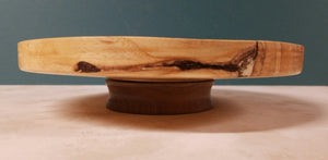 BPL01 - Hickory plater with walnut base
