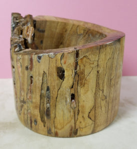 BW12 - spalted walnut with pink resin highlights