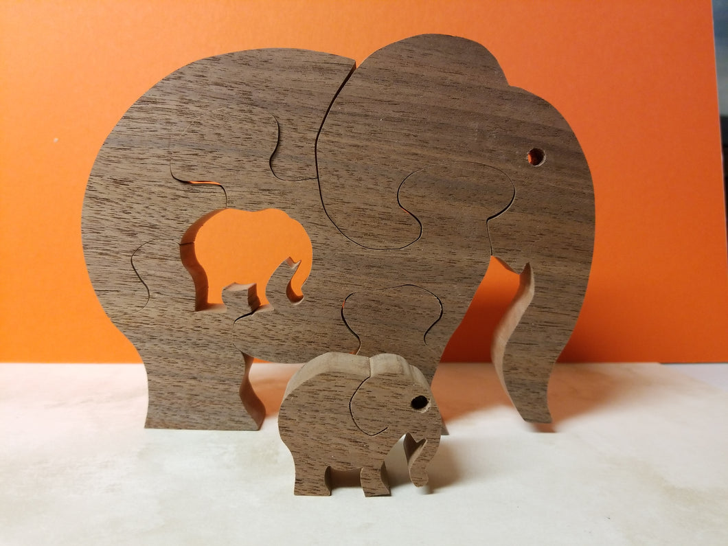 Elephant with calf Puzzle