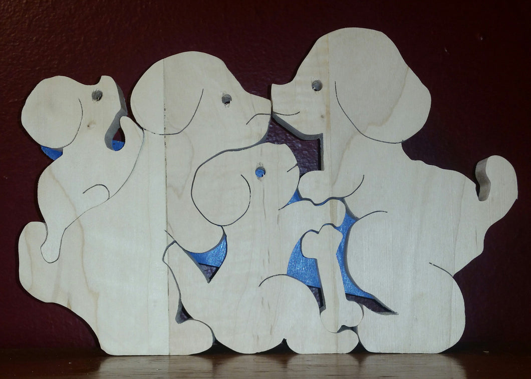 Stack of puppies puzzle