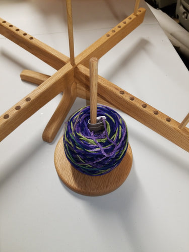 Amish-style Yarn Swift with Spindle