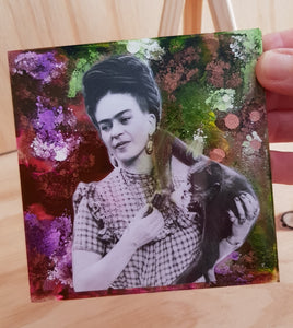 "Mini Works of Heart ""Frida With Her Pet Monkey"""